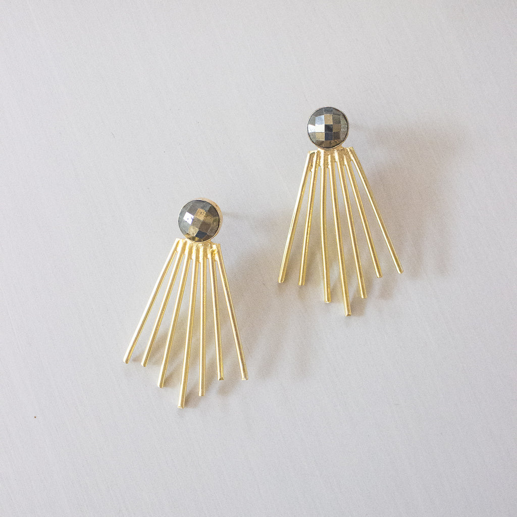 Becca Earrings | Pyrite