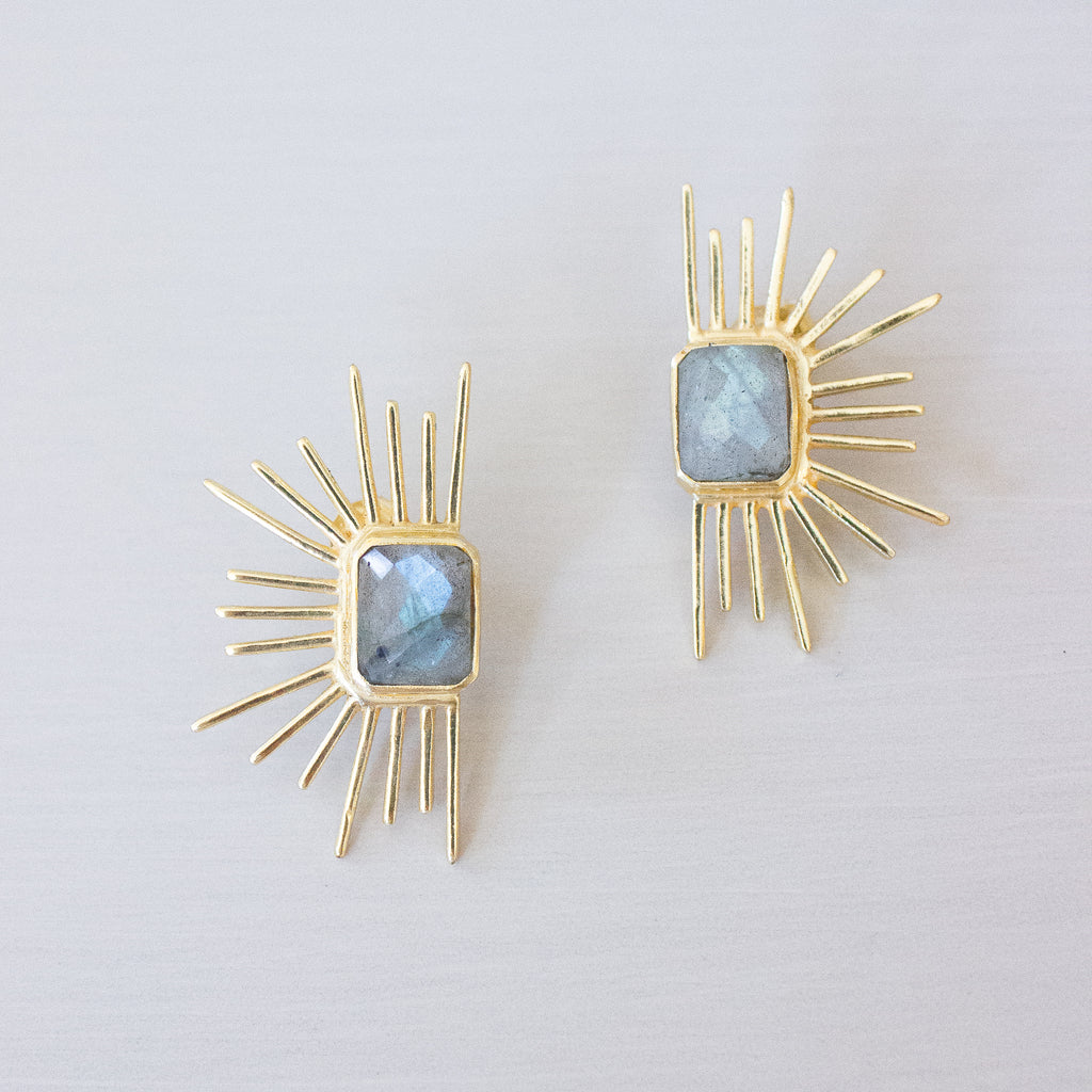 Chloe Earrings | Labradorite