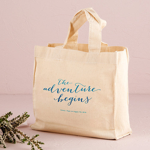 "Personalized ""The Adventure Begins"" Tote Bag"