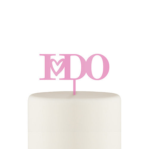 """I Do"" Acrylic Cake Topper"