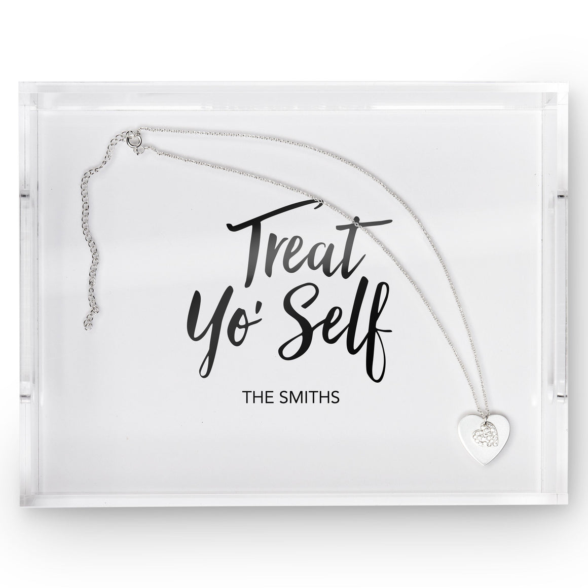 "Acrylic Tray ""Treat Yo Self"""