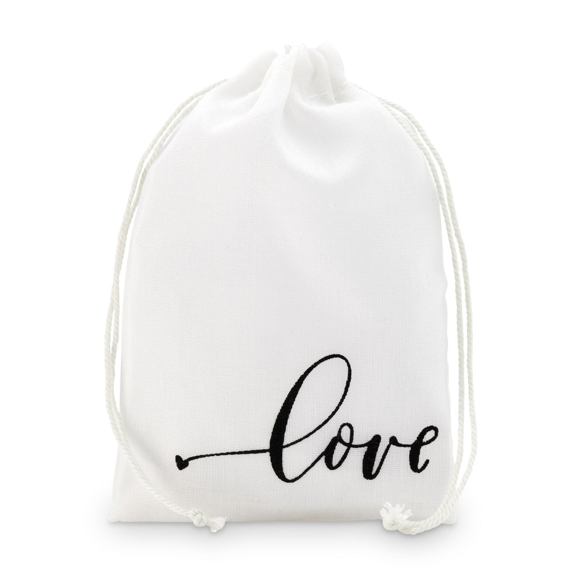 "Drawstring favour bag ""Love"" Print Medium"