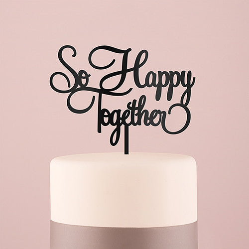 """So Happy Together"" Acrylic Cake Topper"
