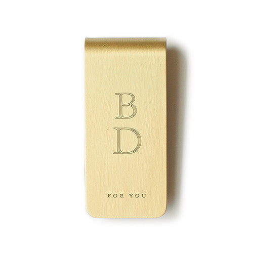 "Money Clip ""For You"" Brass"
