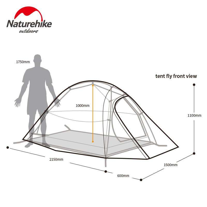 NatureHike 2 Personne Tente T Plaid Tissu Tente Double-couche Camping Tente | At Camping