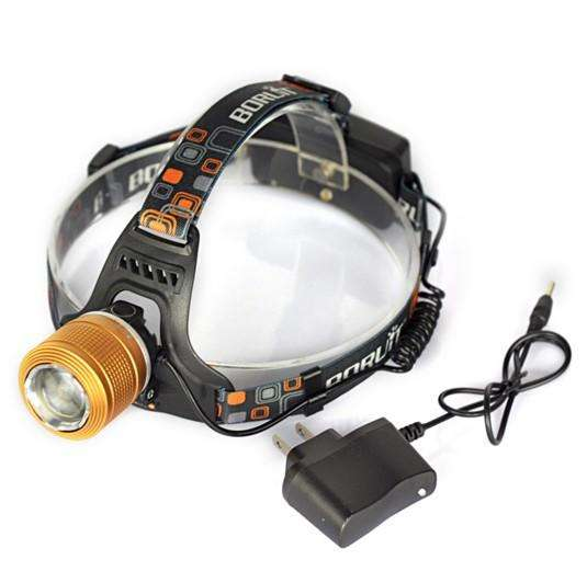 LED Headlight Adjustable Zoomable Headlamp Frontale Flashlight | At Camping