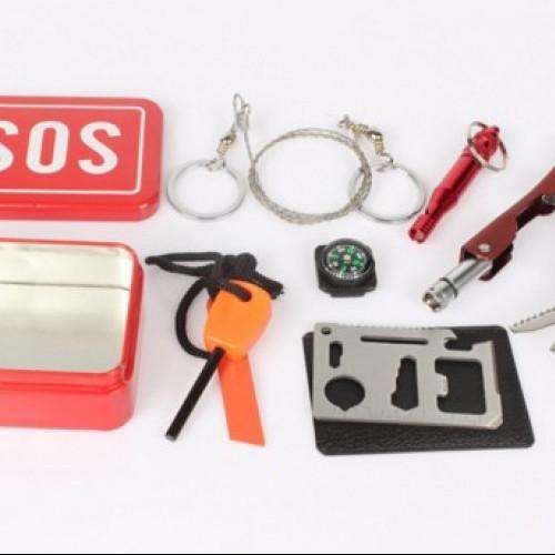 Emergency bag survival Kit box self-help box SOS equipment for Camping Hiking portable emergency Outdoor equipment