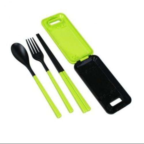 Set Cutlery Fork Chopsticks Spoon Camping Picnic  for CHild KIds