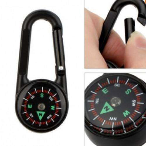 Mini Compass  Thermometer Military Outdoor Hiking Climbing Metal Camping Equipment | At Camping