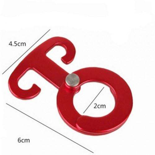 Self-locking Carabiner Hooks Rope Tensioner | At Camping