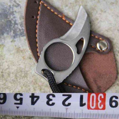 Camping Mini Carabiner Knife with Leather | At Camping