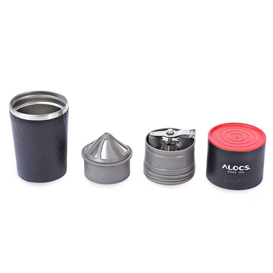 4 in 1 Stainless Steel Camping Manual Easy Coffee Grinder Tableware | At Camping