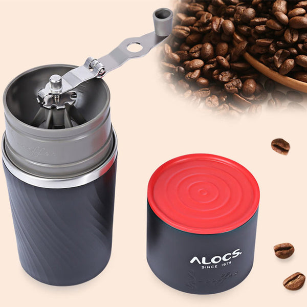 4 in 1 Stainless Steel Camping Manual Easy Coffee Grinder Tableware
