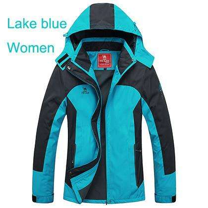 Outdoor Camping Hiking mountaineering waterproof jacket men and women's  Ski suit sports -.01 | At Camping
