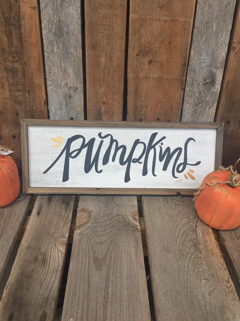 """Pumpkins"" Barn Sign"