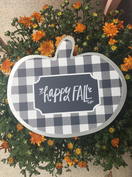 """Happy Fall"" Tin Sign"