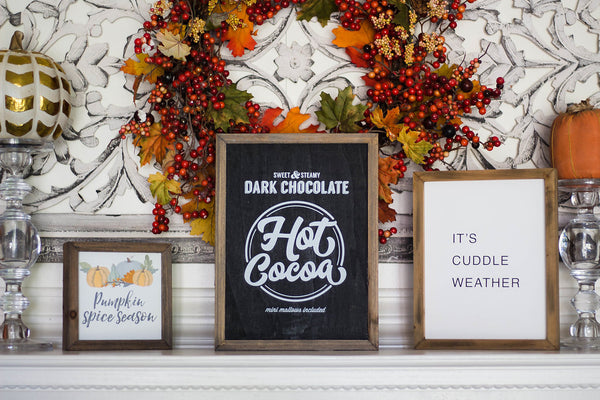 """Hot Cocoa"" Barn Box Sign"