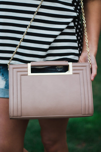 Taupe Over-Sized Clutch