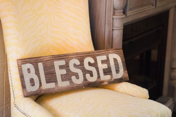 Metal Blessed Pallet Sign