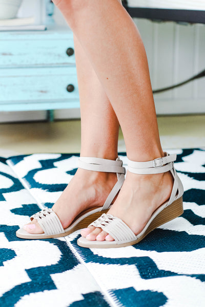 Taupe Wedge Sandal
