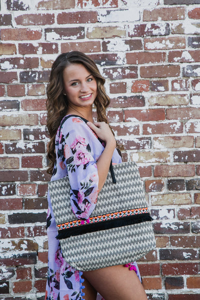 Chevron Tribal Tote