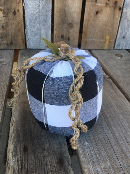 Black Checkered Pumpkin
