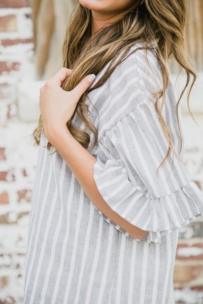 Gray Striped Tunic