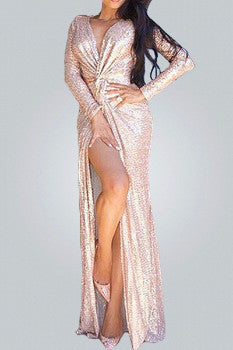 The Rose Gold Dress - Urban Couture