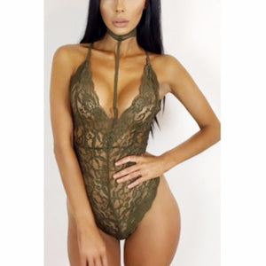 The Laced Choker BodySuit - Urban Couture - 1