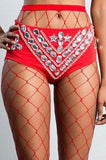 The Wide Fishnet Stockings