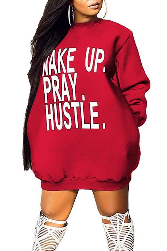 The Wake Up, Pray, Hustle Sweater Dress