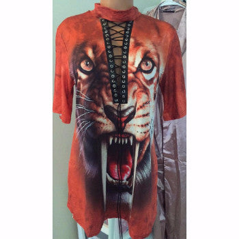 The Tiger Totem Shirt Dress - Urban Couture - 3