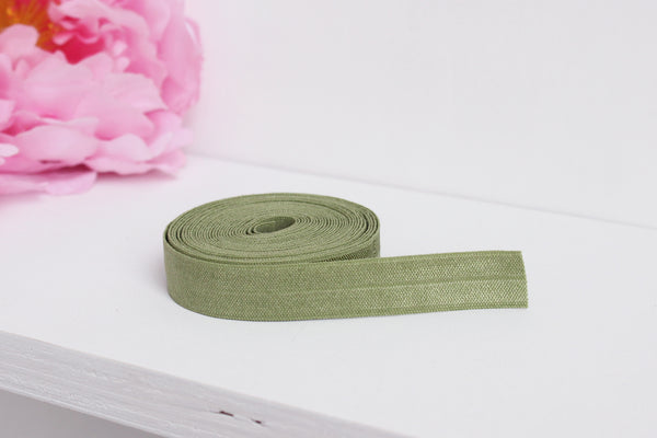 "1 YD of 5/8"" Willow Fold Over Elastic Shiny Foldover Elastic FOE Underwear Making Lingerie Bra Making"