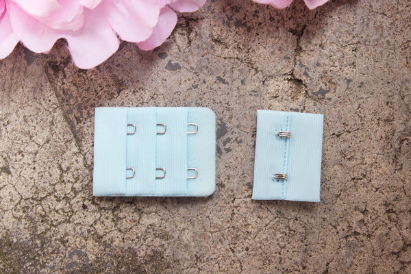 1 Set Light Blue Hook & Eye 2 Rows 1.5""