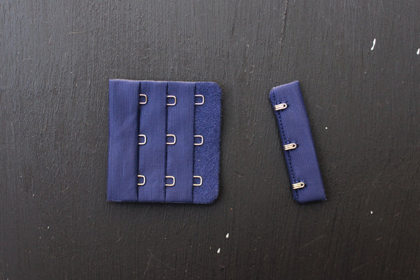 1 Set Navy Bra Hook & Eye 3 Rows 2.25""