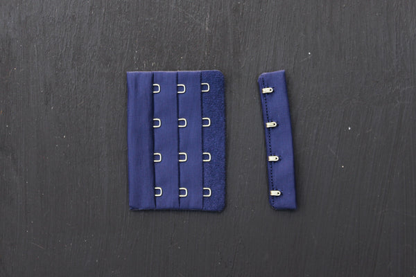 1 Set Navy Bra Hook & Eye 4 Rows 3""