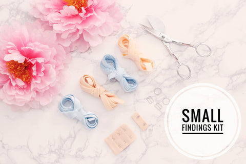 Small Bra Findings Kit - Light Blue Peach - Perfect for an Underwired Bra
