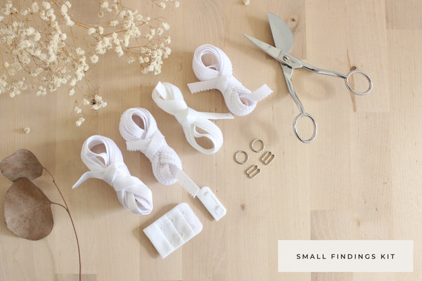 Small Bra Findings Kit - White - Perfect for an Underwired Bra