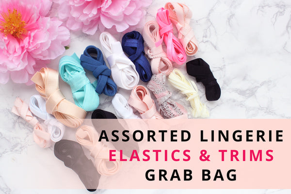 23-25 YDS of Assorted Lingerie Elastic & Trims Grab Bag