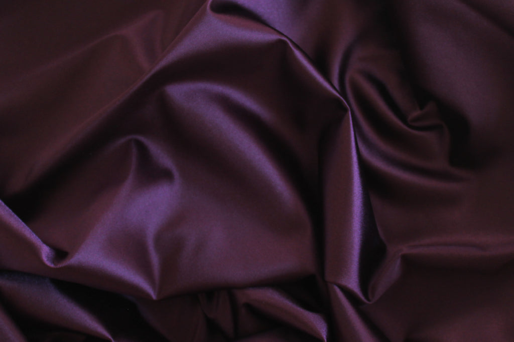 1/2 YD Aubergine Shiny Lingerie Satin Bra Making Cups & Frame Fabric - LIMITED EDITION!