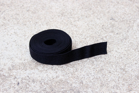 "1 YD 3/4"" Black Satin Plush Back Bramaking Lingerie Elastic"