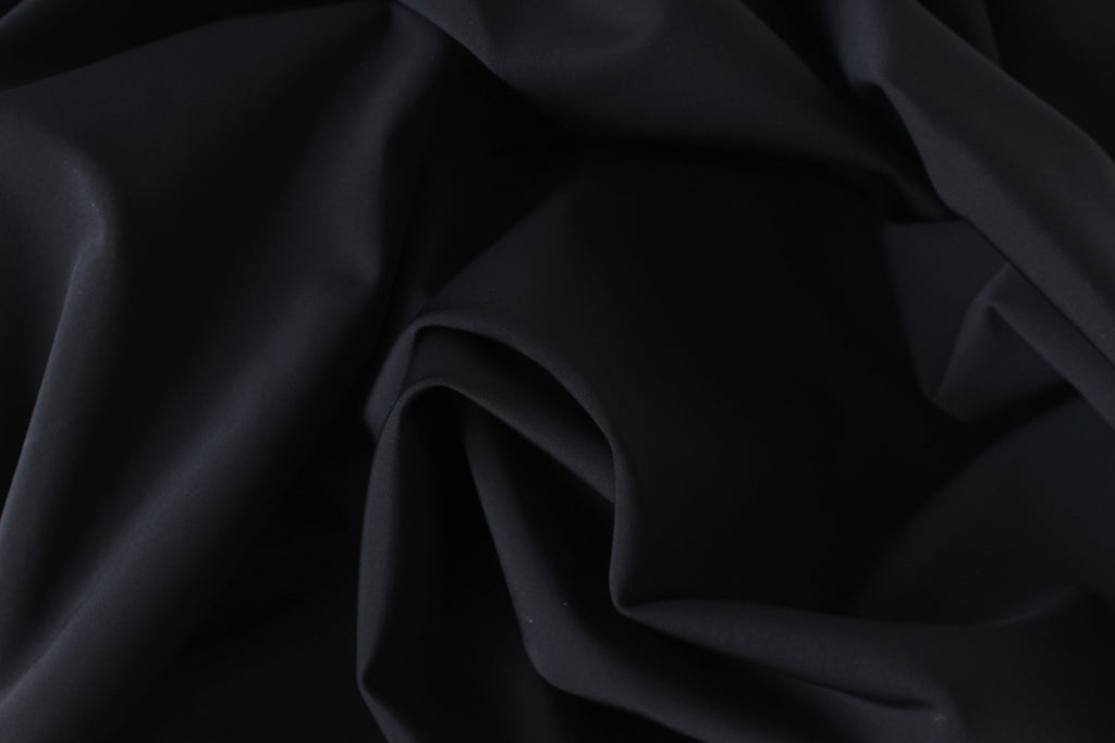 1/2 YD Black Recycled Swimwear Activewear Nylon Spandex Sustainable Fabric