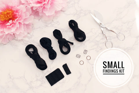 Small Bra Findings Kit - Black - Perfect for an Underwired Bra