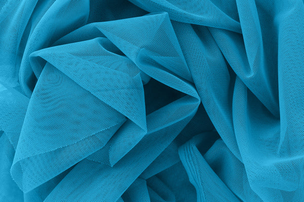 1/2 YD Bright Teal Stretch Mesh