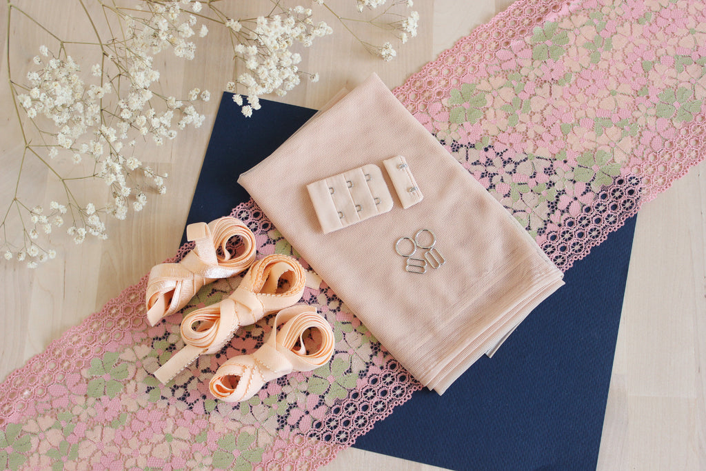 DIY Soft Bra Kit Candy Pink Multi Peach