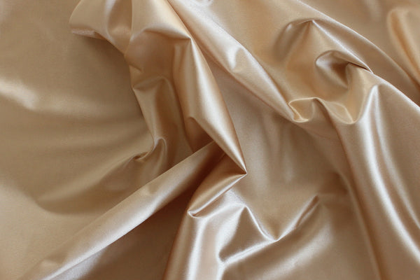 1/2 YD Caramel Shiny Lingerie Satin Bra Making Cups & Frame Fabric - LIMITED EDITION!