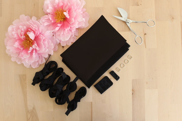 DIY Underwire Bra Kit Chocolate Bra Tulle