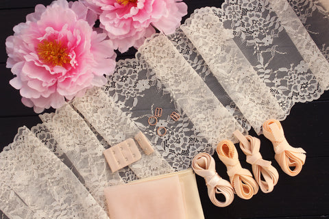 DIY Underwire Bra Kit Cream Peach