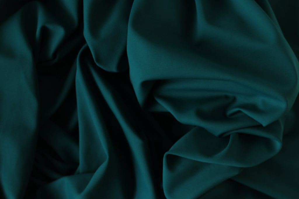 1/2 YD Deep Teal Green Activewear Sport Lycra Polyester Spandex Wicking Fabric