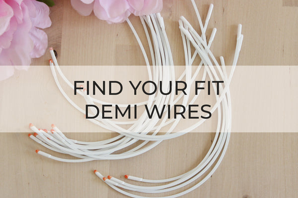 Demi Wire Fitting Pack - Find Your Fit - 3 Underwire Size Pack